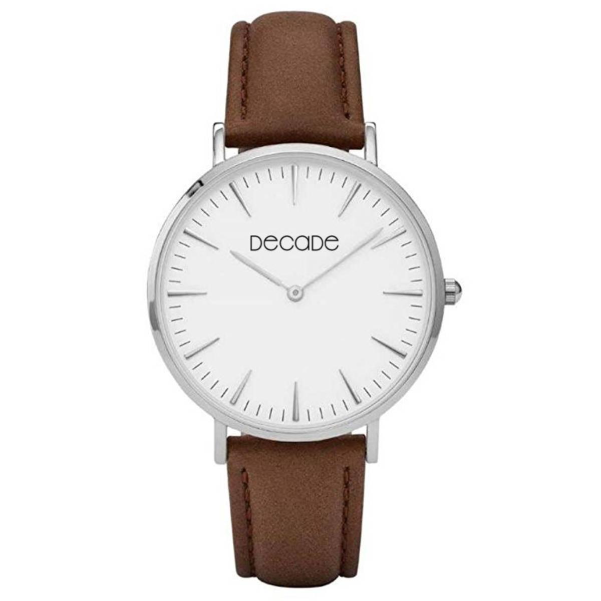 DECADE Armbanduhr D101 Quarz Leder braun