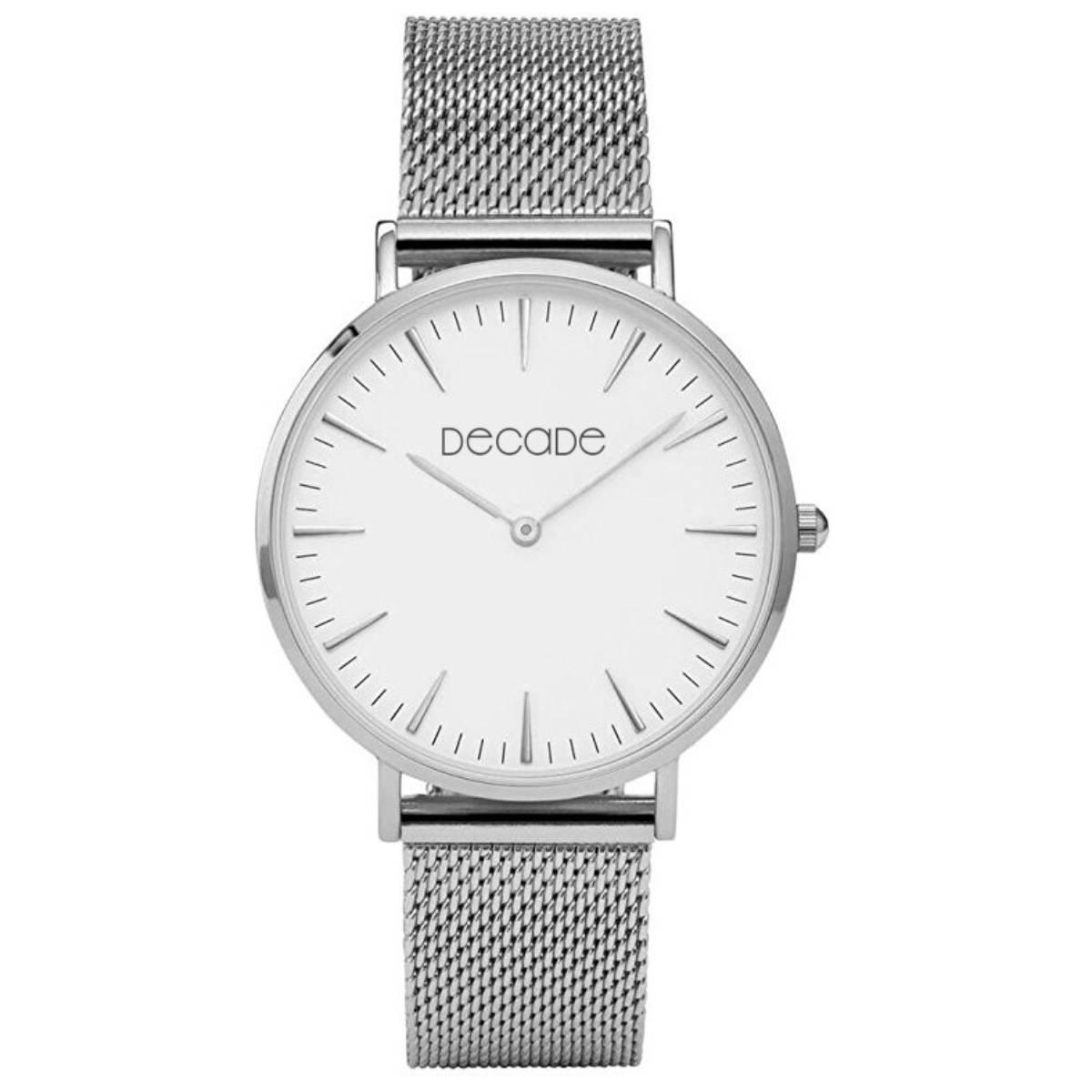 DECADE Armbanduhr D102 Quarz Edelstahl silber